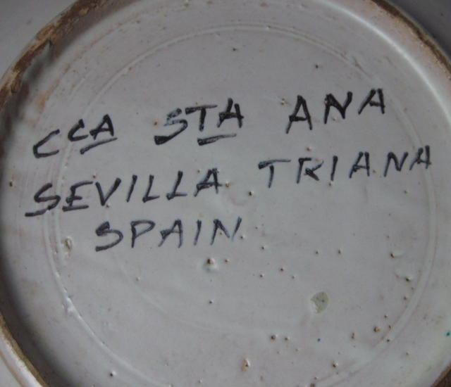 Vintage Sevilla Triana Spain Earthenware Bowl
