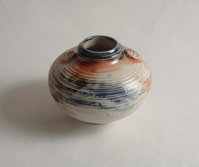 Otto Heino Salt Glaze Bottle Vase