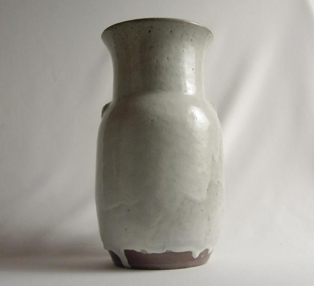 Huge Jugtown  Vase Chinese White