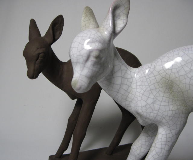 Karlsruhe Deer Pair by Else Bach