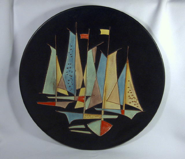 Karlsruhe Sailboat Display Plate