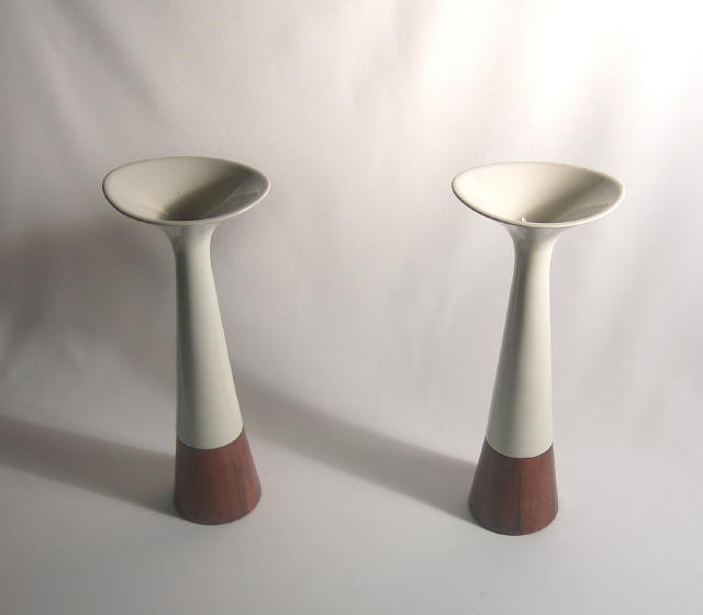Michael Lax Raymor Capri Hyalyn Candle Pair
