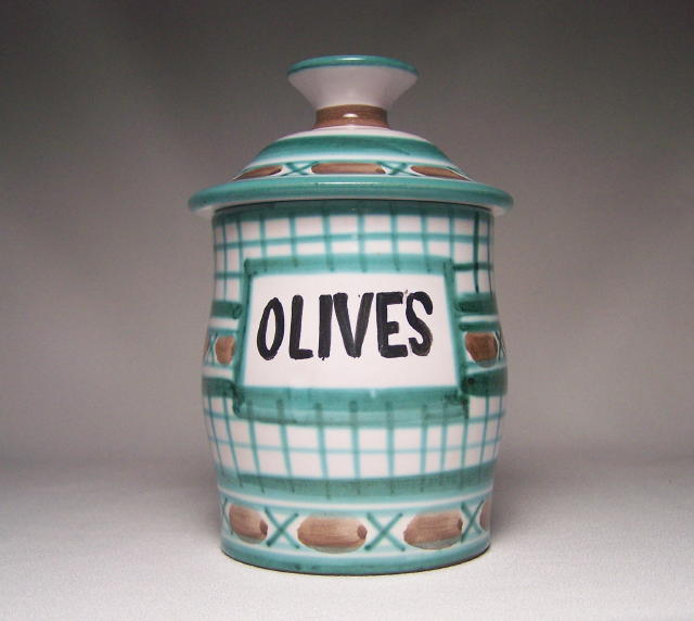 Robert Picault Lidded Olive Pot