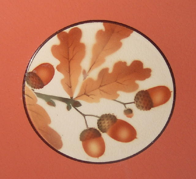 Royal Copenhagen Aluminia Oak Acorns Plate