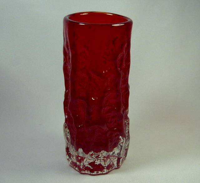 Whitefriars Ruby Bark Vase