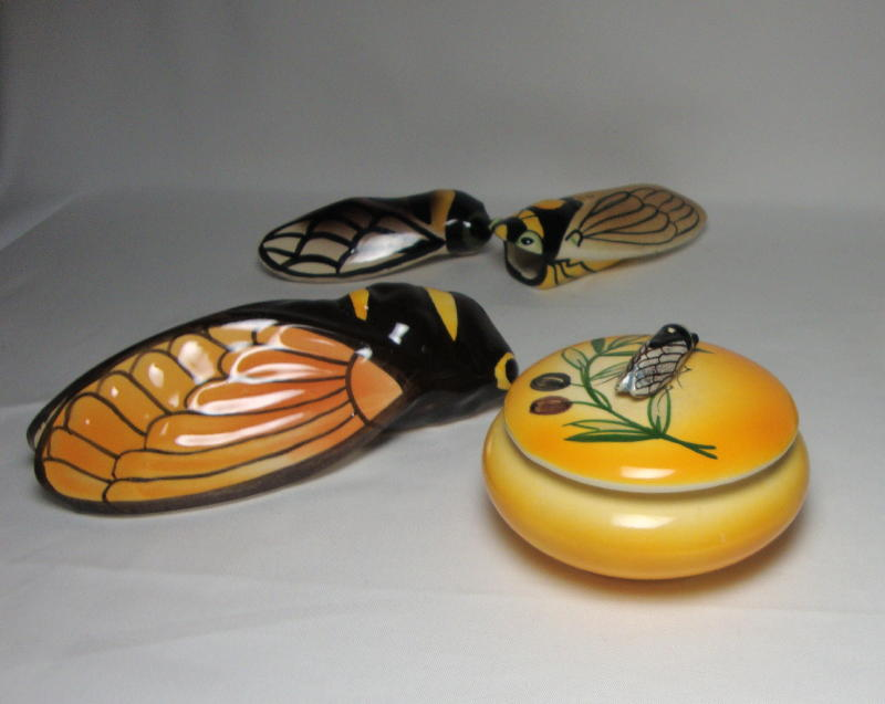 French Art Deco Cicadas